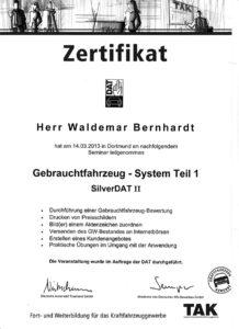 Zertifitkat: Gebrauchtfahrzeug