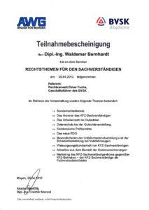 Rechtstehmen-Zertifikat